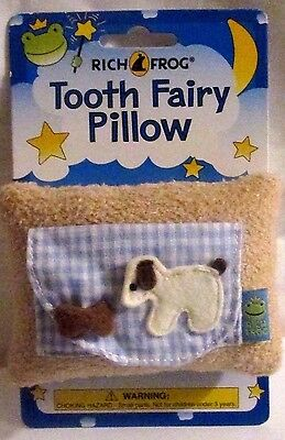 Rich Frog  Tooth Fairy Pillow - Puppy with Bone