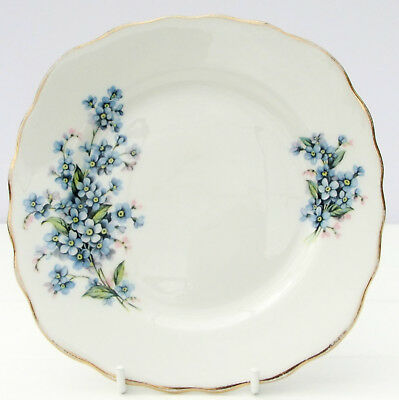 Vintage Royal Vale Bone China Tea Plate Blue Floral Forget Me Not