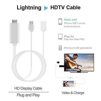 Lightning to HDTV HDMI Digital AV Adapter Cable for iPhone 6 7 8 Android Samsung