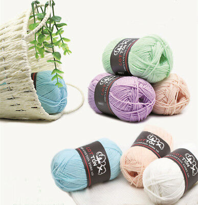 Wholesale 24 colours Cotton Thread Yarn Knitting Crochet Chunky quality yarn 50g