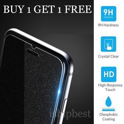 2Pcs Premium Bling Screen Protector Tempered Glass Film For iPhone 6s 7 8Plus ii