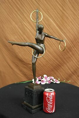 "Art Nouveau/ Deco 24"" Tall Juggler Bronze Sculpture Home Decoration Sale Gift"
