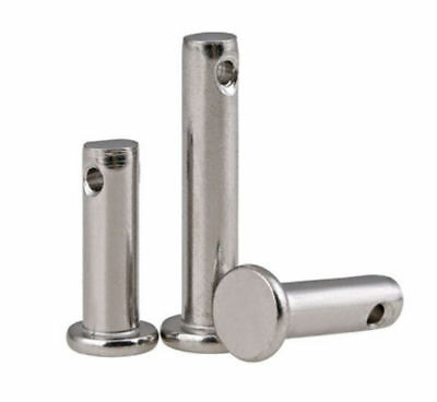 M3 M4 M5 A2-70 Stainless Steel 304 Flat head Clevis Pins with hole