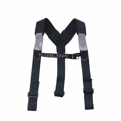 Buildpro ADJUSTABLE PADDED SHOULDER HARNESS Nubuck Leather, Hand Finished