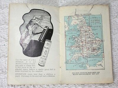 Vintage Bartholomews map, Stoniflex 'The Right Way' Leaflet London / South East