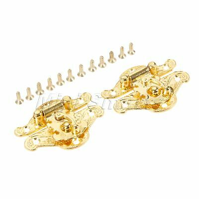 Decorative Wooden Jewelry Box Antique Zinc Alloy Hasp Lock Latch with Screws 2X