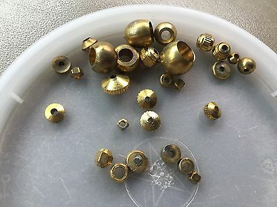 Vintage Sample Card Rustic Industrial Brass Mixed Style Sturdy Unique Bead Lot