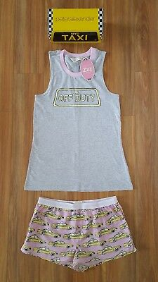 PETER ALEXANDER PJS Womens NEW YORK TAXI SET Shorts & Top Size XS/S/M/L BNWT PJ