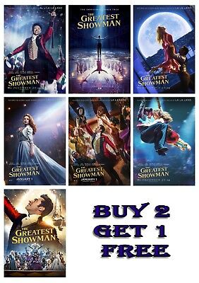 The Greatest Showman Movie Print Poster Wall Art A2 A4 A3 Zac Efron Hugh Jackman