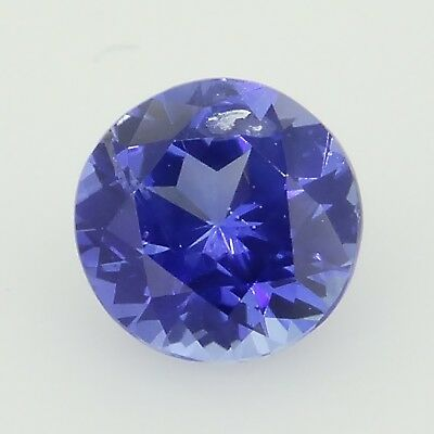 round cut blue sapphire unheated 0.58ct Genuine Loose Gemstones NR