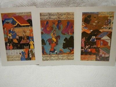 Persian Azerbaijan Khamsa Nizami 20 Miniatures Prints Published 1996 RARE