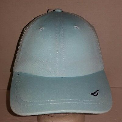 42e1cd8757a NWT NAUTICA EMBOSSED Baseball Cap Cotton Blue One Size Fits Most ...