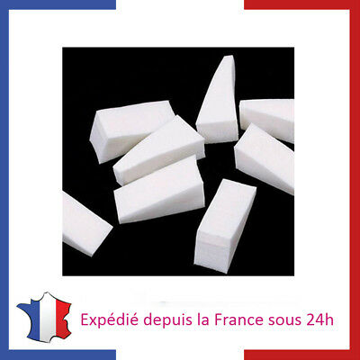 Lot d'Eponges Blanches Triangulaire en Mousse Latex pour Dégradé et Nail Art