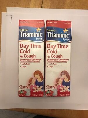 2childrens Triaminic Day Time Cold Cough Syrup Cherry 4oz Each
