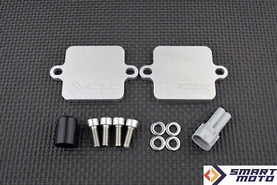 PAIR AIS Valve Eliminator with SMOG block off plates Yamaha YZF R6 2017