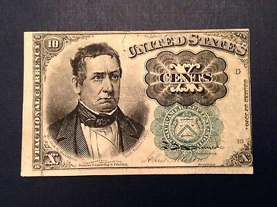 -1874 Ten 10 Cents US Fractional Currency 5th Issue Meredith Green Seal Fr 1264