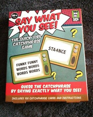 Say What You See Game Quick Fire Catchphrase Party Game Xmas