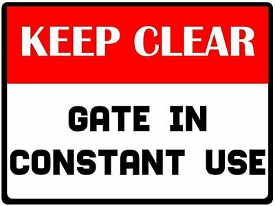 "NO PARKING Keep Gate Clear Shabby Chic 8x10/"" Metal Sign Retro Property #238"
