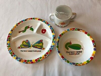 Toddler Dish Set - Eric Carle Very Hungry Caterpillar (Bowl, Plate, Sippy Cup)