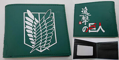 Attack On Titan Survey Corps Green Wallet USA SELLER!!! FAST SHIPPING!