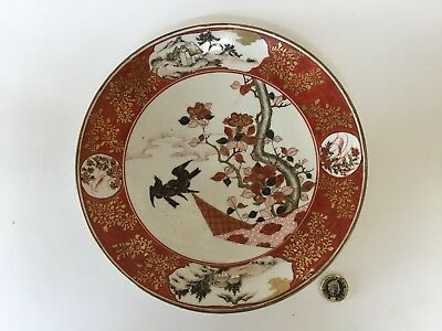 Antique Japanese Kutani Pottery Plate Signed Meiji 19th C Bird Blossom Landscape & Plates Japanese Asian/Oriental Antiques Antiques Page 3 | PicClick UK
