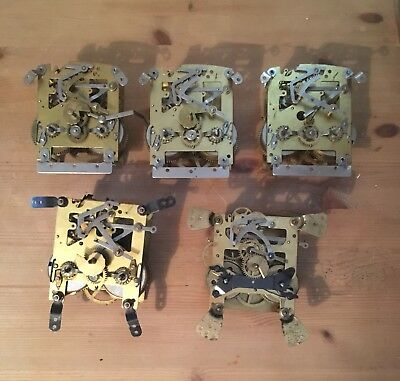 Vintage Mantel Clock Striking Mechanisms For Spares Repair Steampunk