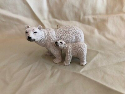Polar Bear Ornament Parent with Baby
