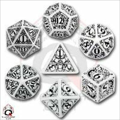 Q-Workshop Steampunk White & black Dice Set (7)