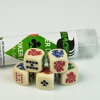 Blackfire Dice - 16mm Poker Dice Set (5 Dice)
