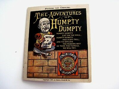 "Vintage 1877  Advertising Booklet ""Sea Foam Baking Powder"" w/ Humpty Dumpty  *"
