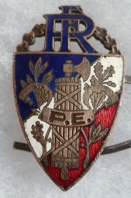 INSIGNE WWII PE POLICE d'ETAT FRANCE 1930/1940 EMAIL ANCIEN