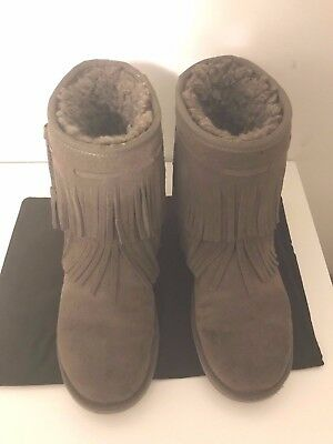 25b029c0fc9 KOOLABURRA BY UGG Cable Fringes Women's Winter Boots Brown Size Us 8