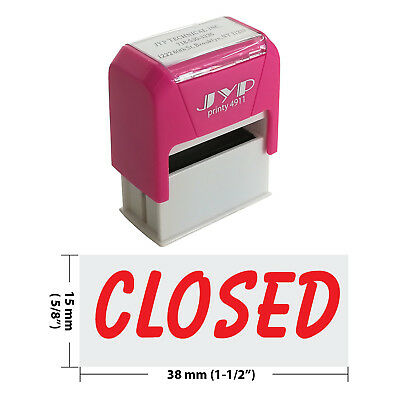 CLOSED Self Inking Rubber Stamp - JYP 4911R-06  RED INK
