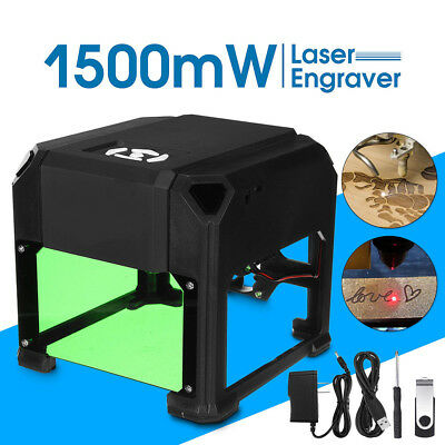 1500mW Laser Engraver Printer Cutter Carver DIY Logo Mark Engraving Machine USB