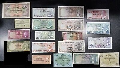 19 Banknotes of Islamic Ottoman Empire Turkey ~Some Better Grade Rare Notes~ #8