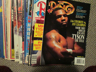 "VINTAGE 1980's-90's BOXING MAGAZINES - 41 ""THE RING"" MAGAZINES - TYSON ......."