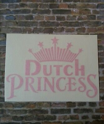 Dutch Bros brothers sticker vinyl decal PRINCESS pink crown coffee oregon pnw