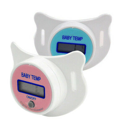 Digital Safety Portable Mouth Nipple Temperature Baby LCD Pacifier Thermometer