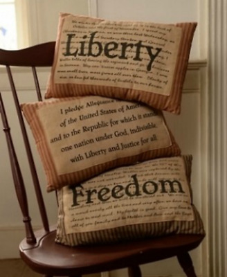 Primitive Country 3/Set Americana Pillows July 4 Patriotic, Liberty Freedom