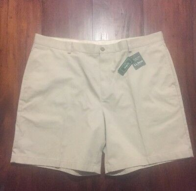 L.L. BEAN 42W (NWT) Chino Shorts Cotton Casual Summer Outdoor