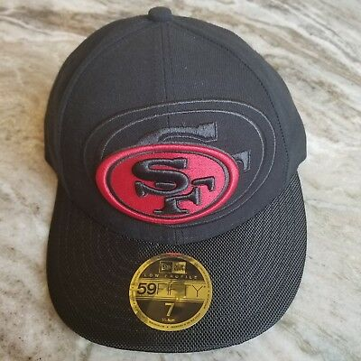 eea716b25bf4d8 New Era San Francisco 49ers Cap NFL 59FIFTY Low Profile 7 Fitted Hat 55.8 cm