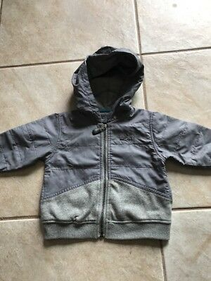 Baby Boys DKNY Gray Sweat Shirt Jacket-12months- Awesome!!