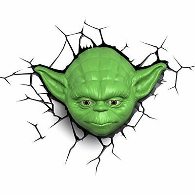 3D Light Fx 3DFX-02057 Star Wars Ep7 Yoda Face Lampada LED con Timer, (t2m)