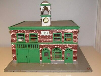 Vintage Wood Folk Art Hand Made; It's a replica of a Fire Station House