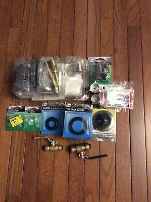 $80 plumbing assorted parts mostly for bathroom lot of 15 as shown in picture