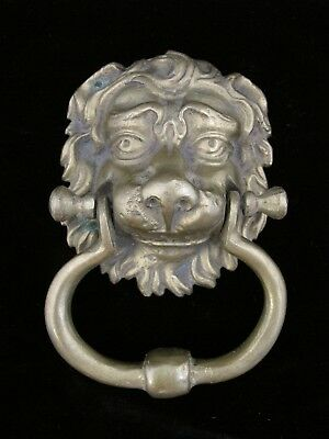 Vintage Brass Lion Head Door Knocker