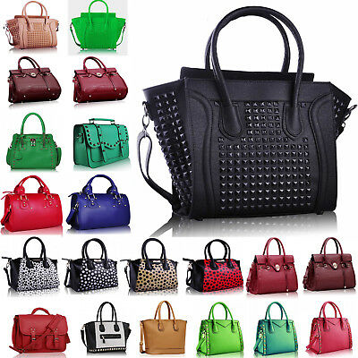 Ladies Designer Faux Leather New Style Women's Satchel Tote Shoulder Bags New In