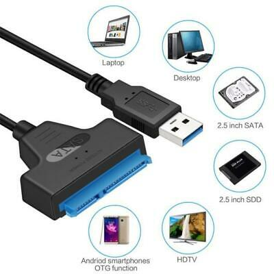 "USB 3.0 to SATA 2.5"" Adapter Cable Reader for External HDD SSD Hard Disk Drive"
