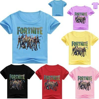 fortnite Game cartoon kids T-shirts tops tshirts party costume clothes gifts