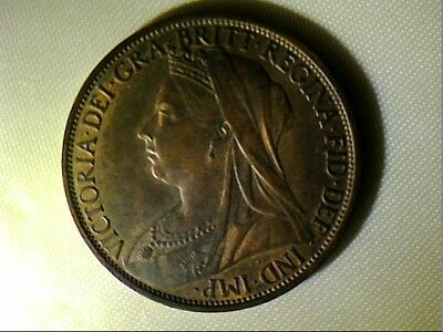 1896 United Kingdom Queen Victoria One Penny